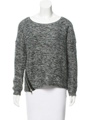 Maje Two-Tone Knit Sweater None