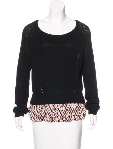 Maje Linen-Blend Knit Sweater None