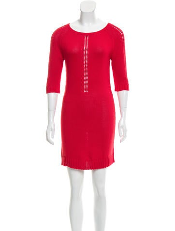 Maje Mini Rib Knit Dress None