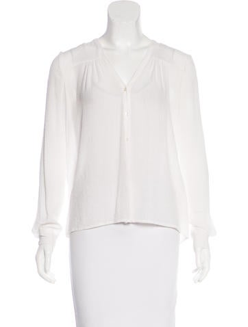 Maje Knit Button-Up Top None