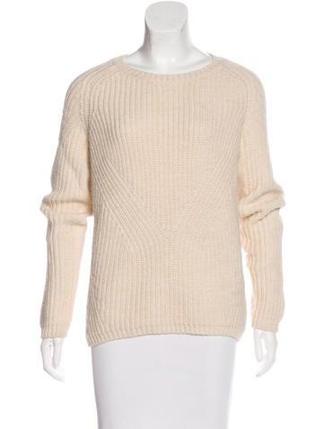 Maje Crew Neck Long Sleeve Sweater None