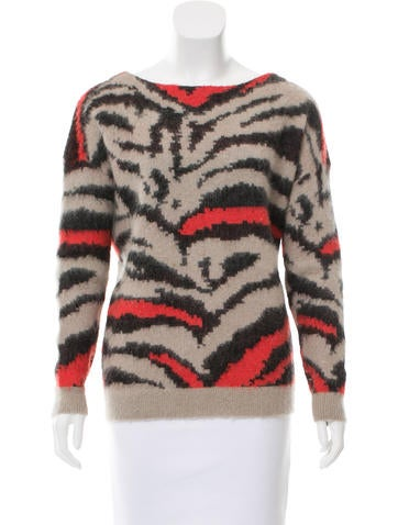 Maje Textured Patterned Sweater None