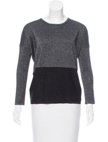 Maje Lurex Colorblock Sweater None