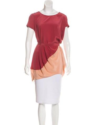 Maje Short Sleeve Silk Top None