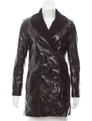 Maje Double-Breasted Notch Lapel Coat None