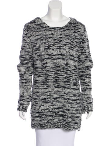 Maje Long Sleeve Knit Sweater None