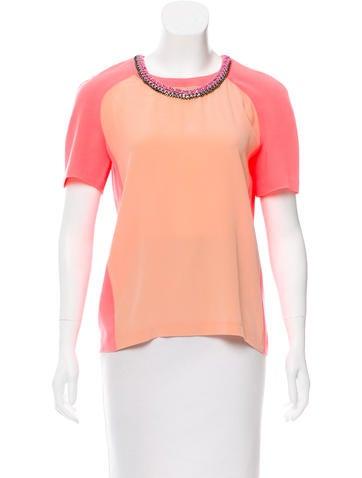 Embellished Short Sleeve Top