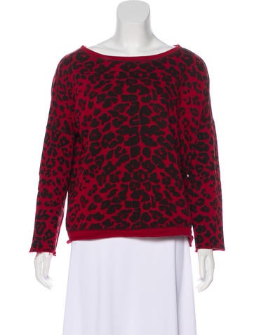 Maje Leopard Print Sweatshirt None