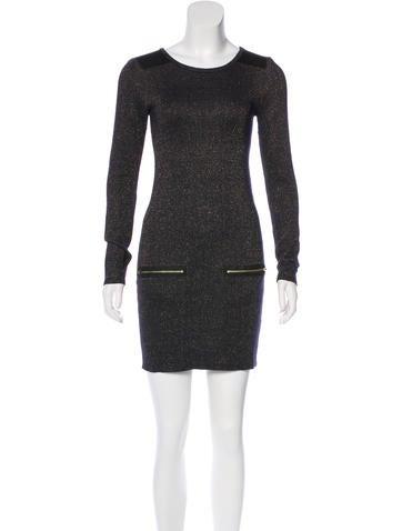 Maje Metallic Mini Dress None