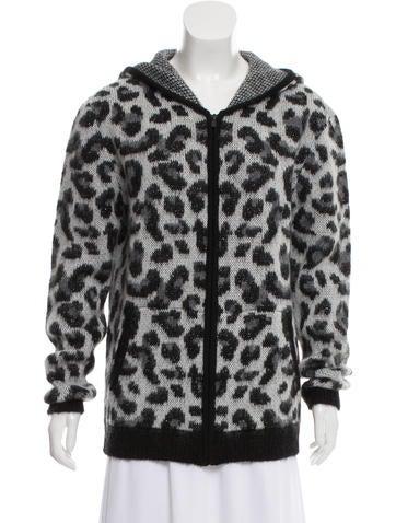 Maje Animal Print Sweater None