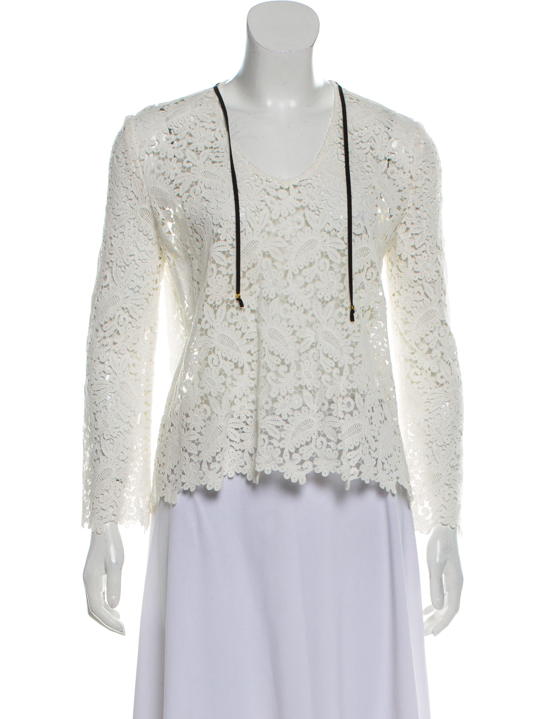 50fdd8112f87ee Maje Guipure Lace Long Sleeve Top - Clothing - W2M35191