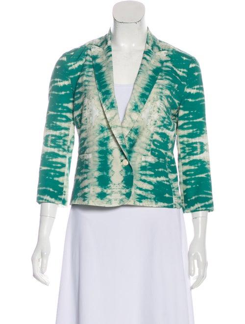 Maje Tie-Dye Print Blazer Green
