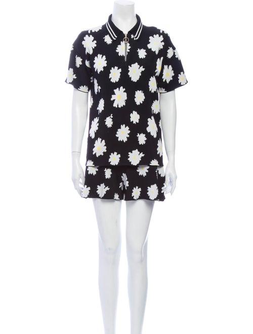 Maje Floral Print Skirt Set