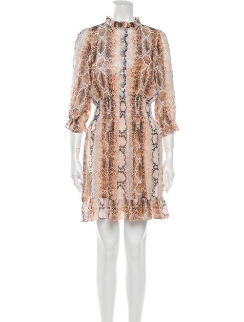 Maje Animal Print Mini Dress