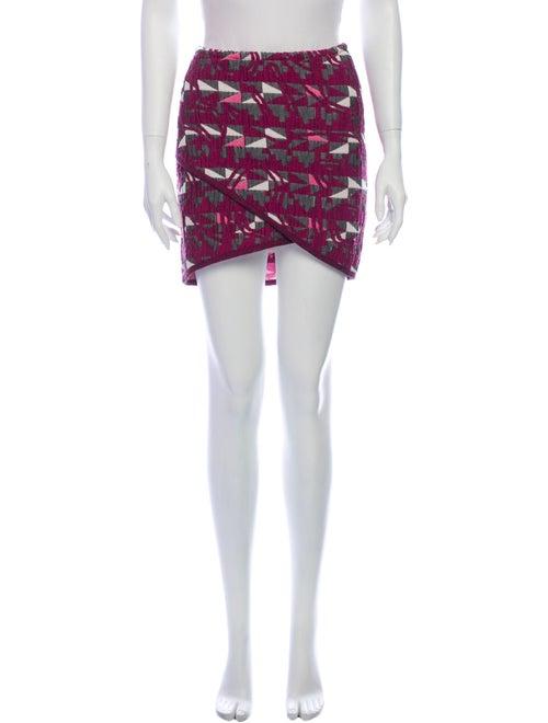 Maje Printed Mini Skirt Purple