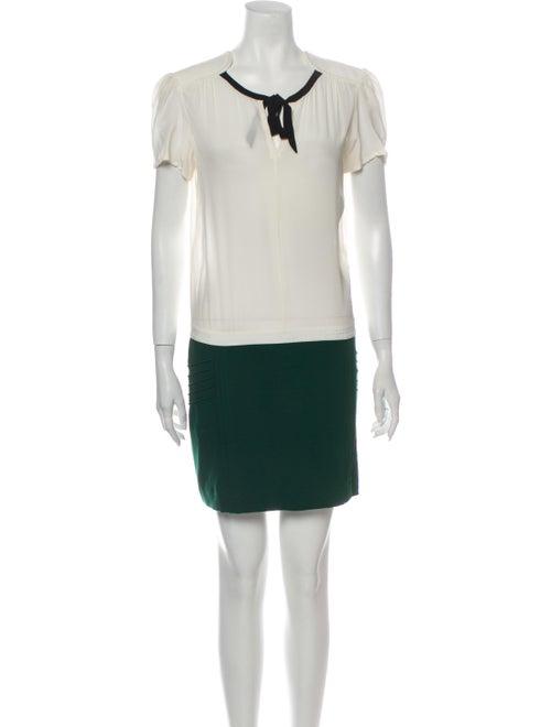 Maje Silk Mini Dress Green