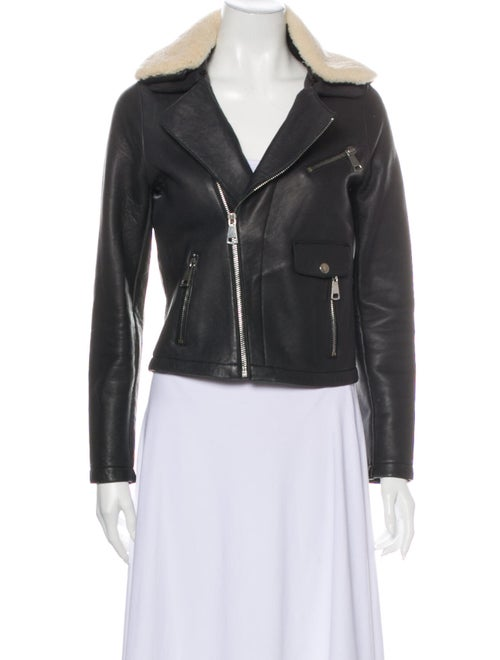 Maje Biker Jacket Black