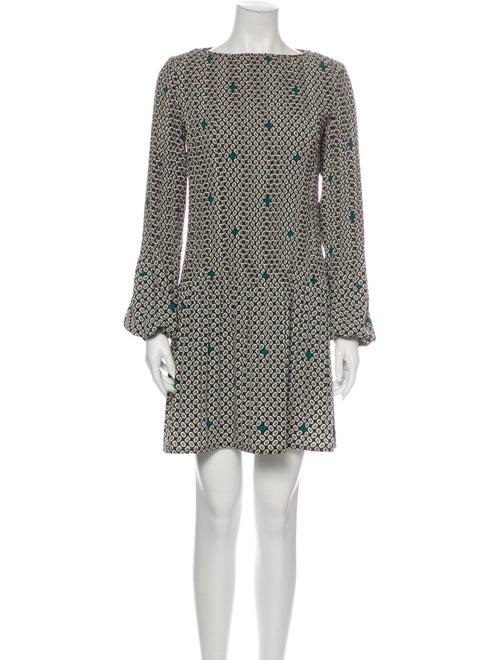 Maje Printed Mini Dress Green
