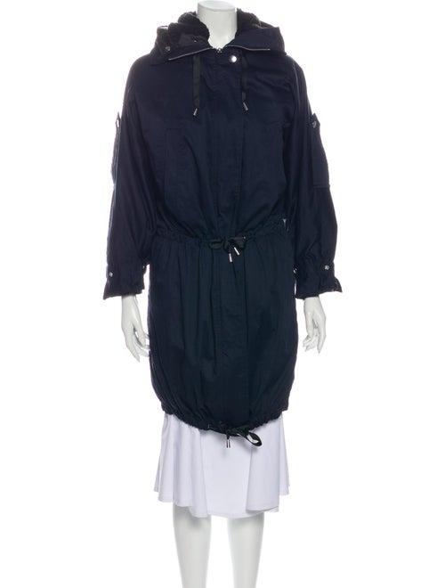 Maje Trench Coat Blue