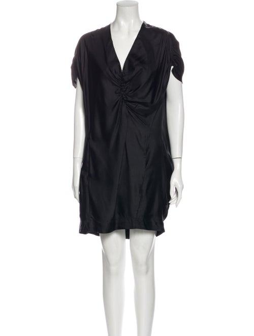 Maje Silk Mini Dress Black