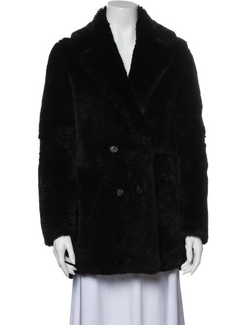 Maje Faux Fur Coat Black