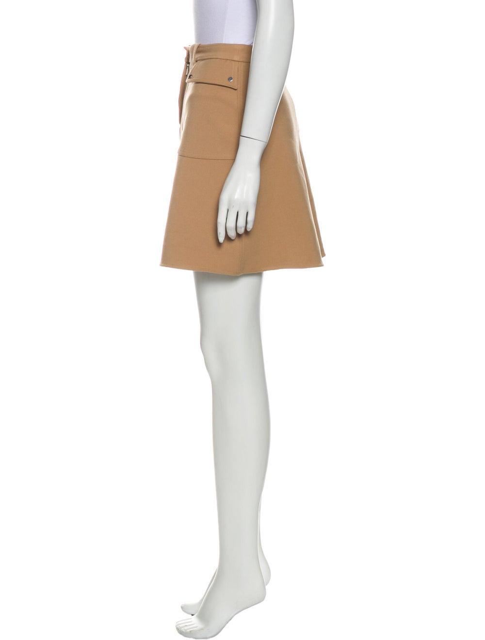 Maje Mini Skirt Brown - image 2