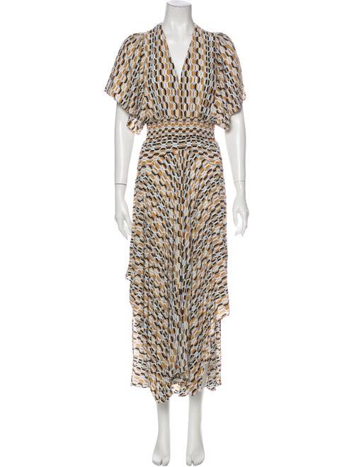Maje Animal Print Long Dress