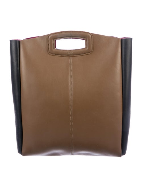 Maje Leather Satchel Black