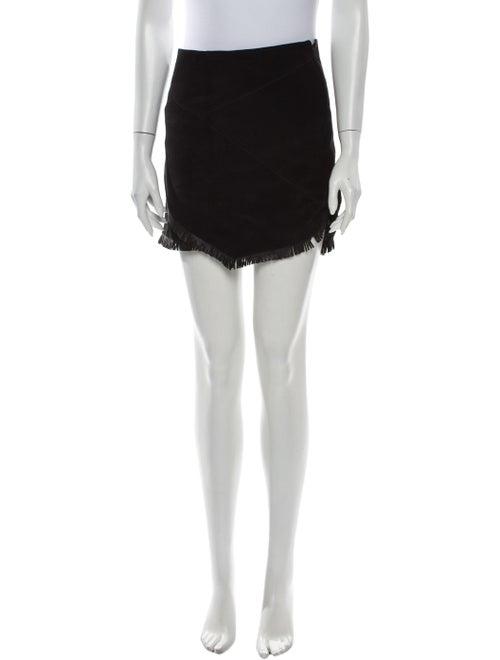 Maje Suede Mini Skirt Black