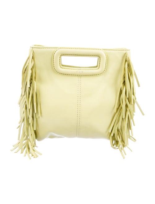 Maje Fringe Crossbody Bag Yellow