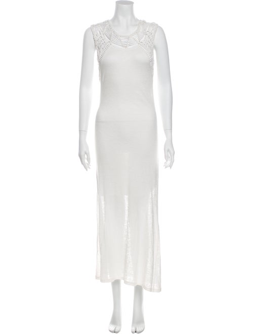 Maje Linen Long Dress