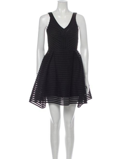Maje Lace Pattern Mini Dress Black