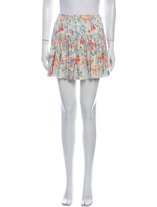 Maje Printed Mini Skirt Blue