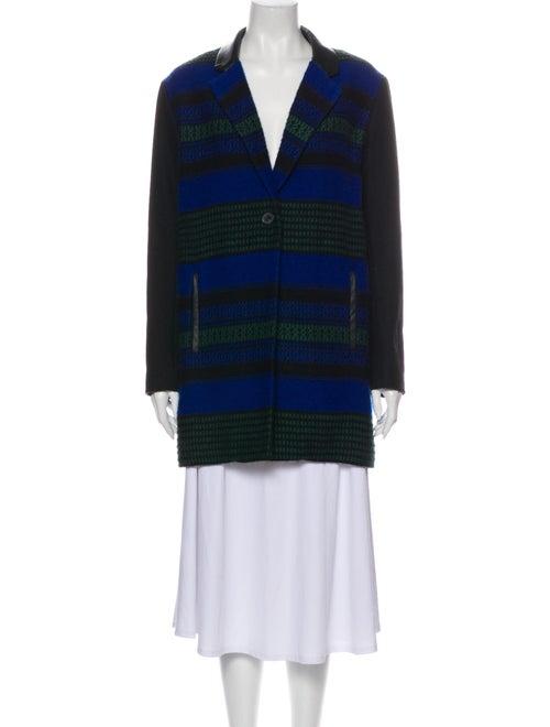 Maje Striped Coat Black