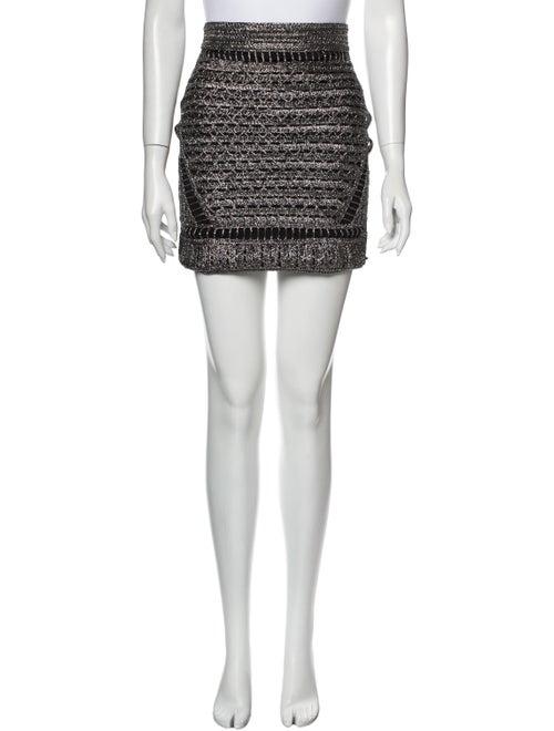 Maje Printed Mini Skirt Silver
