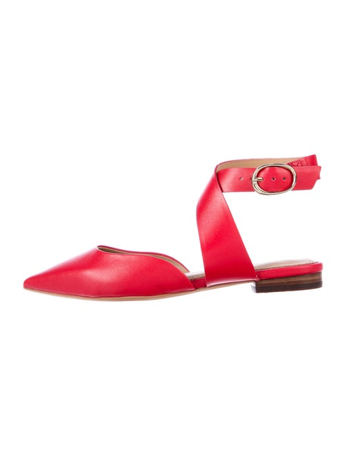 Maje Leather Flats Red