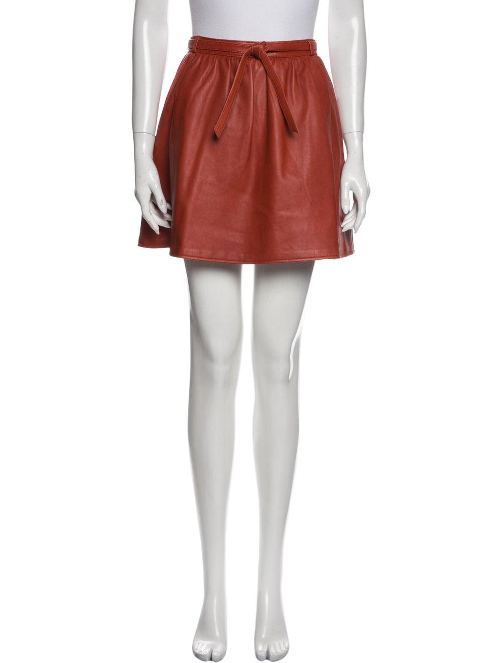 Maje Mini Skirt Orange - image 1