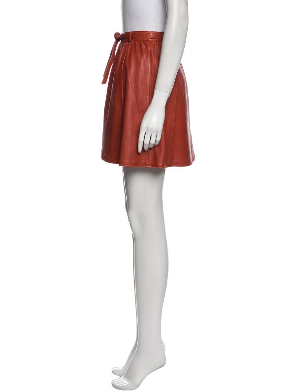 Maje Mini Skirt Orange - image 2