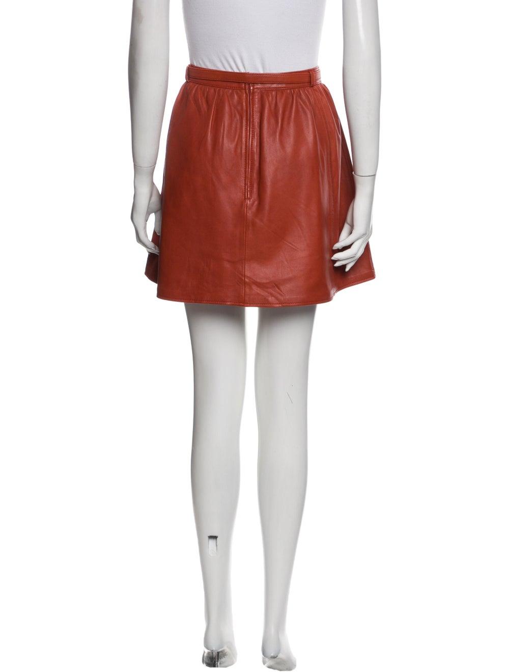 Maje Mini Skirt Orange - image 3