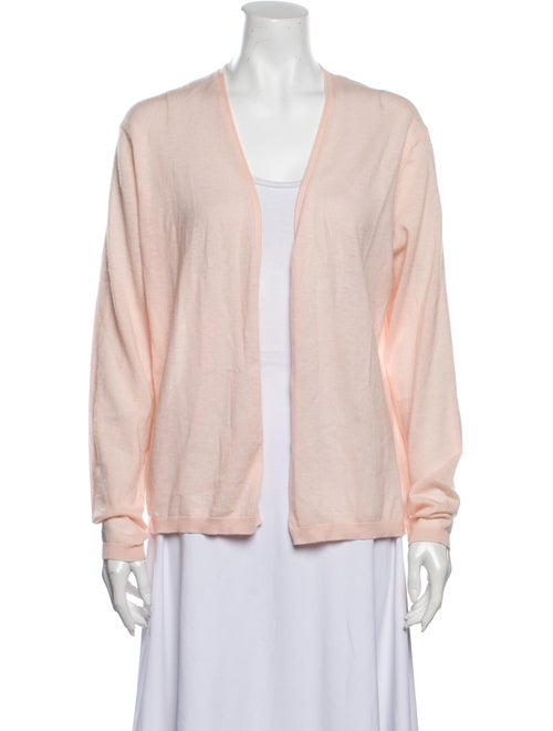 Maje Cashmere Open Front Sweater Pink