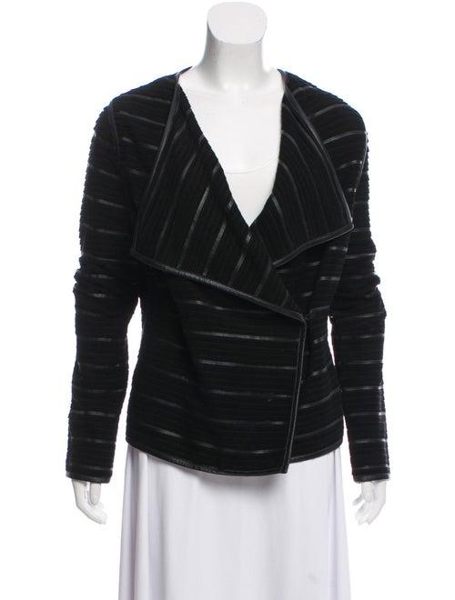 Scoop Leather Blazer Black