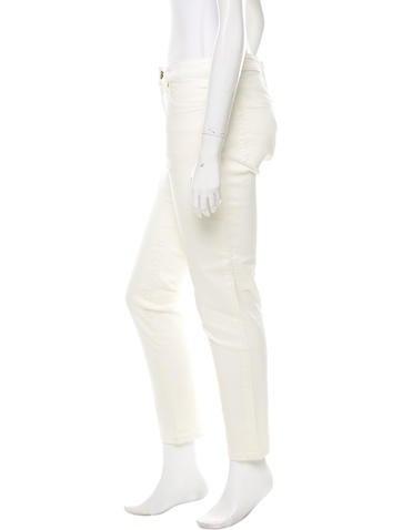 High-Rise Straight-Leg Jeans w/ Tags