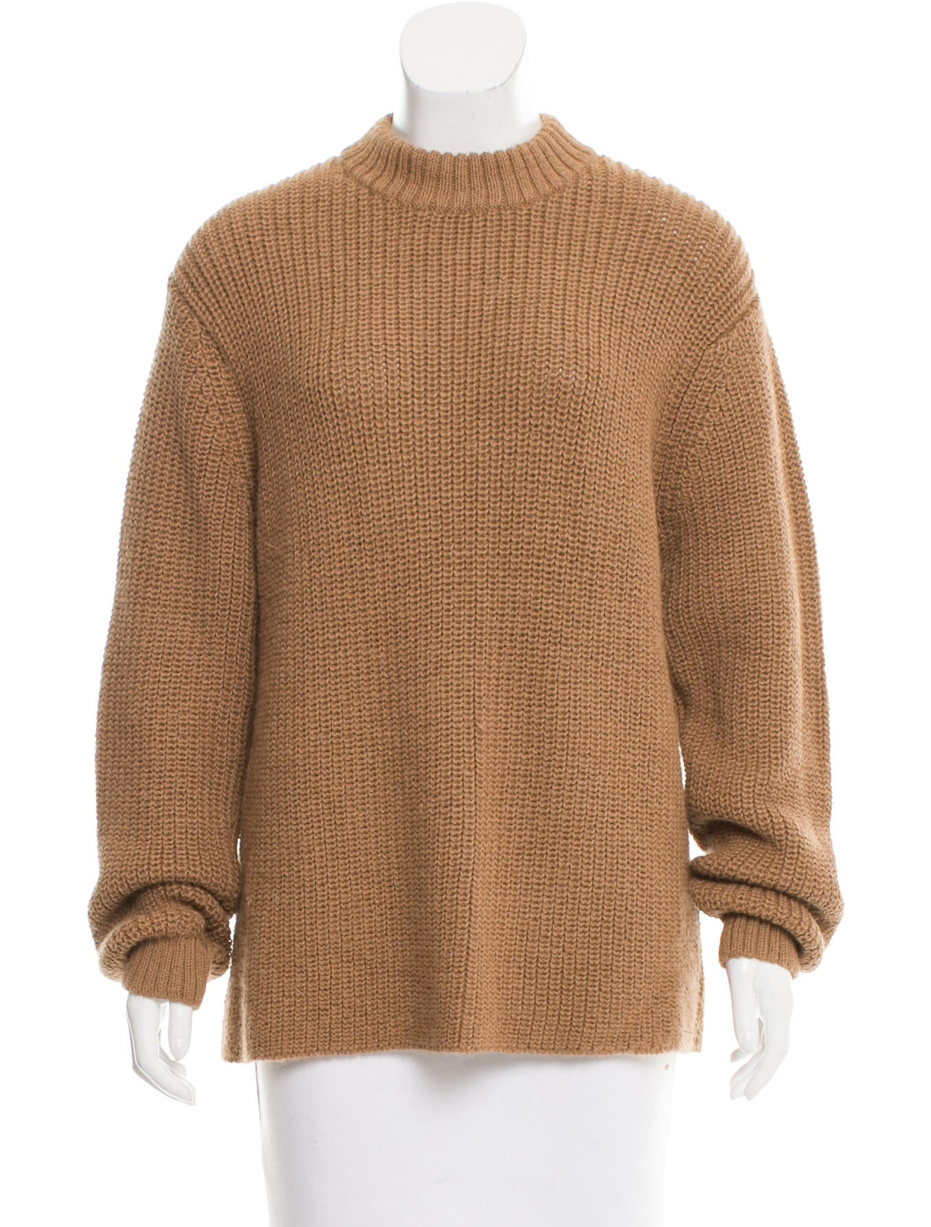 Trademark rib knit long sleeve sweater clothing for Long sweaters and shirts