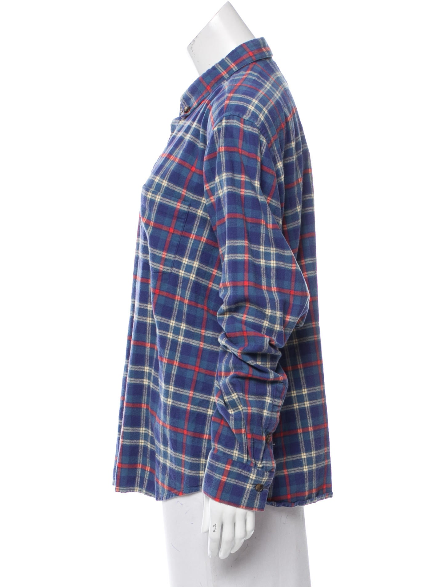 Trademark button up flannel top clothing w2q22046 for Button up flannel shirts