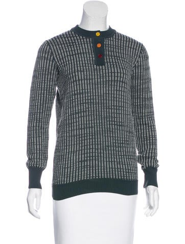 Trademark Striped Long Sleeve Sweater None