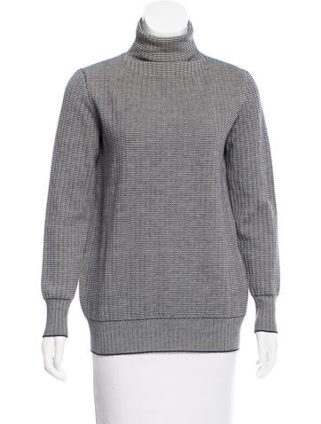 Trademark Wool & Silk-Blend Patterned Sweater None