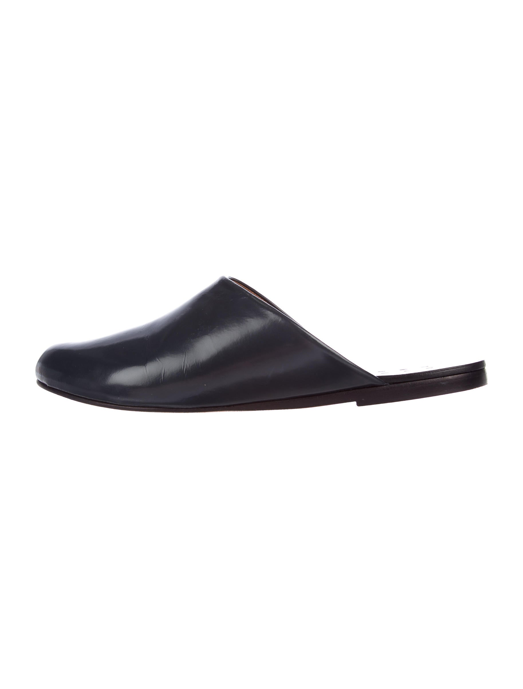 Trademark Leather Round-Toe Mules authentic for sale clearance the cheapest free shipping buy high quality cheap online outlet professional X6ntt
