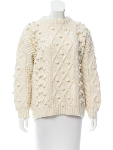 Trademark Wool-Blend Cable-Knit Sweater None