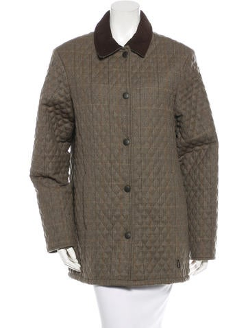 Barbour Quilted Wool Jacket Clothing W2u20547 The