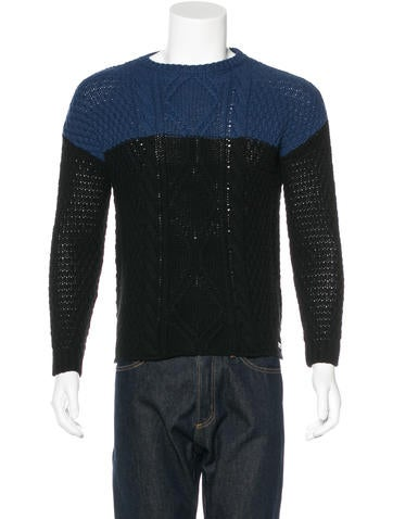 Barbour Colorblock Cable Knit Sweater w/ Tags None